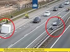 Losgeschoten aanhanger zorgt voor file op A12 bij Duiven, weg is weer vrij