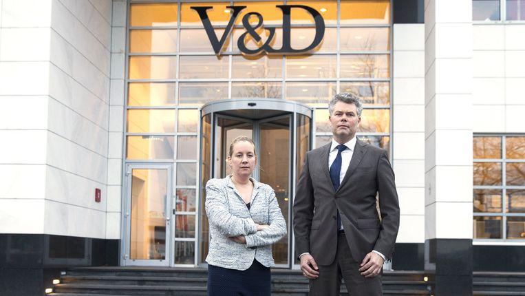 De twee bewindvoerders van V&D: Kees van der Meent en Hanneke De Coninck-Smolders. Beeld anp