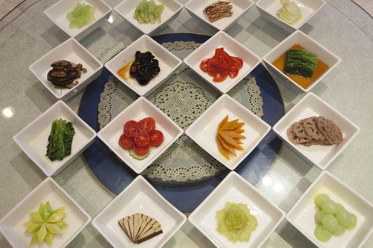 Groentegerechtjes uit de keuken van Yu's Family Kitchen. Beeld