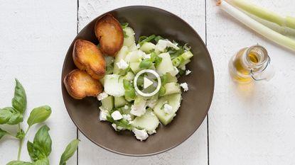Nina kookt: grote groene gezonde meloensalade