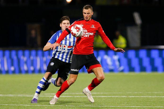 Jordy Thomassen is een van de acht spelers met een doorlopend contract bij Helmond Sport.