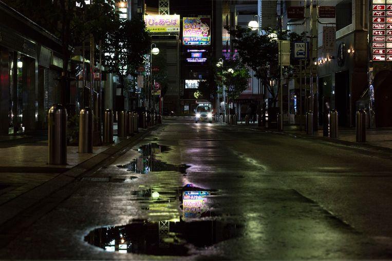 In navolging van de oproep tot evacuatie zijn de straten in Japan dit weekend verlaten. Beeld Getty Images
