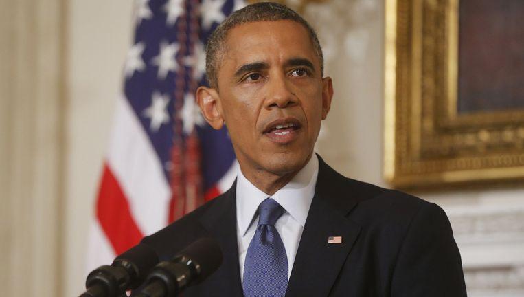 President Obama bespreekt de situatie in Irak in het Witte Huis in Washington. Beeld ap
