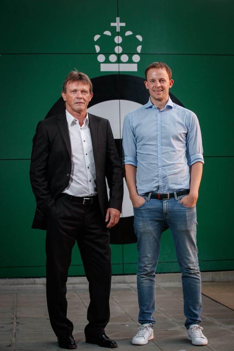 Vercauteren en Euvrard tijdens hun voorstelling bij Cercle Brugge.