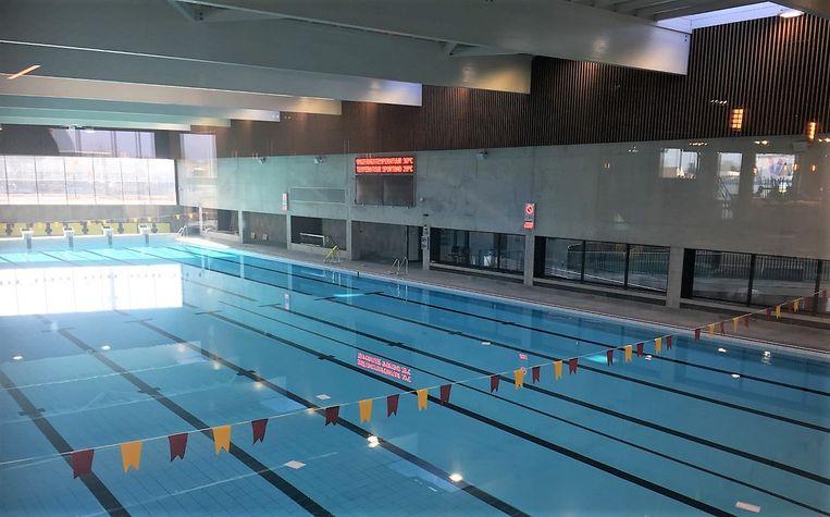 Het sportbad is bijna niet aangetast. Er is enkel wat waterinsijpeling