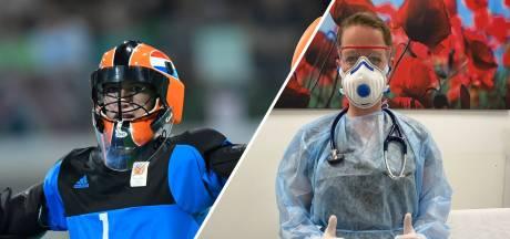 Oud-topsporters strijden nu tegen corona: 'Niet lullen maar poetsen, dat zit in ons dna'
