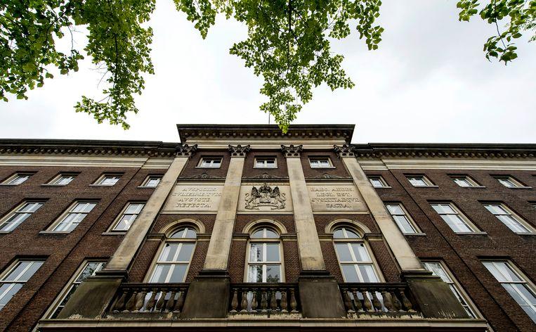 Exterieur van het voormalige Paleis van Justitie. Het pand wordt omgebouwd tot een luxe vijfsterrenhotel. Beeld ANP