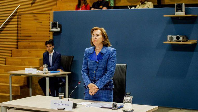 Voormalig minister van Verkeer en Waterstaat, voorafgaand aan de openbare verhoren van de parlementaire enquêtecommissie Fyra. Beeld anp