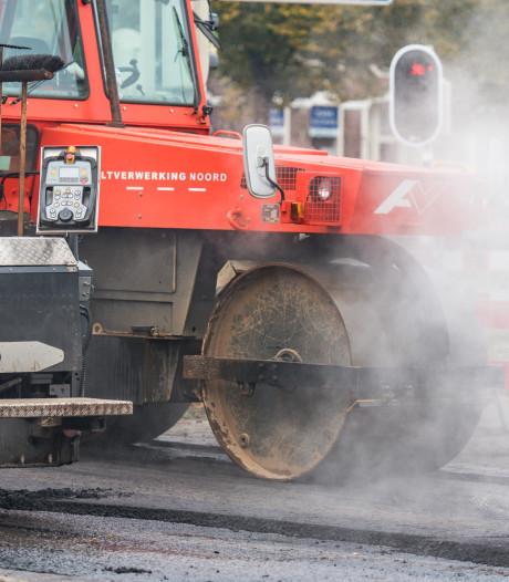 Kerkdijk Heerde dicht voor nieuw asfalt