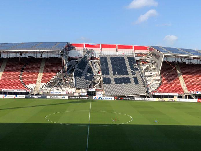 Het dak van het AFAS stadion van AZ.