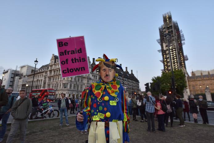 Johnson is niet populair bij demonstranten die helemaal geen brexit willen.