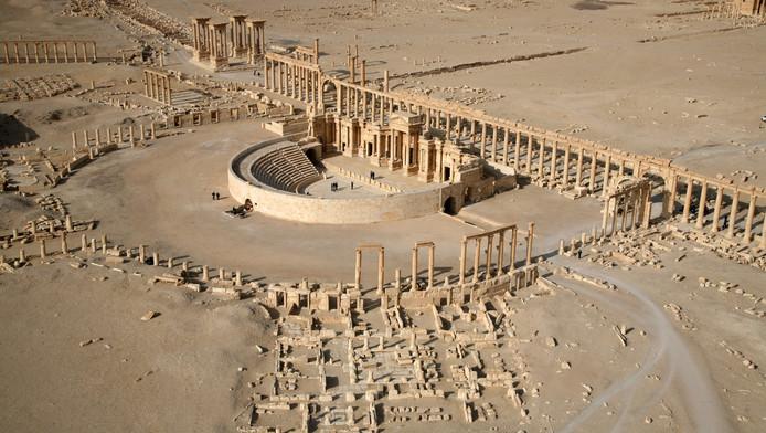 Een deel van de stad Palmyra