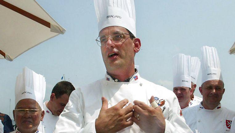 Walter Scheib in 2004, een jaar voor hij het Witte Huis verliet.