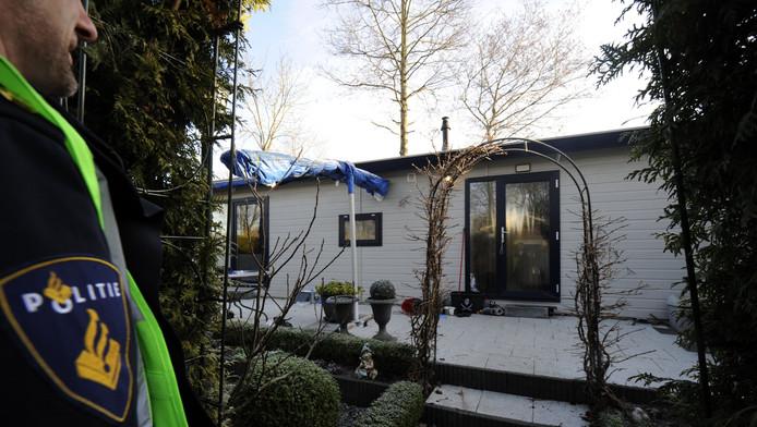 Het vakantiehuisje op recreatiepark De Scherpenhof in Terwolde waar de twee jongetjes om het leven zijn gebracht