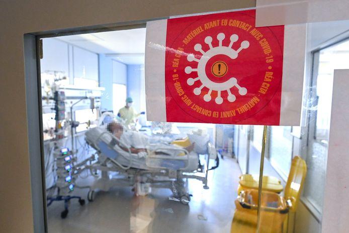 Un patient Covid à l'hôpital de la Citadelle à Liège.