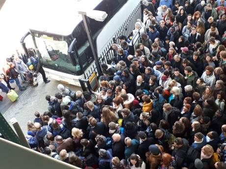 Chaos op stations door stroomstoring: treinverkeer Eindhoven-Den Bosch plat en niet genoeg bussen beschikbaar