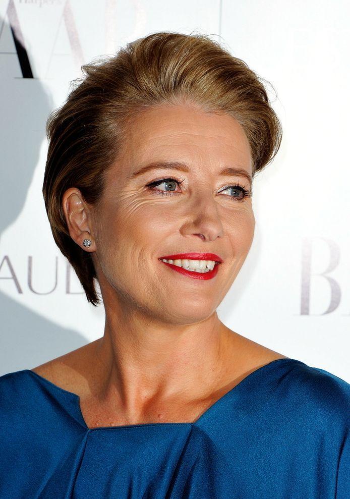 De 52-jarige Britse actrice Emma Thompson zou zich, gezien haar leeftijd, het meest op haar gemak moeten voelen met haar lichaam. © BRUNOPRESS