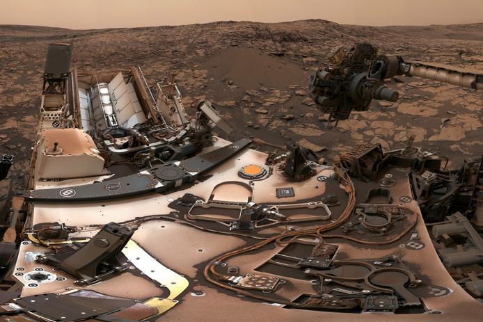 Curiosity op Mars.
