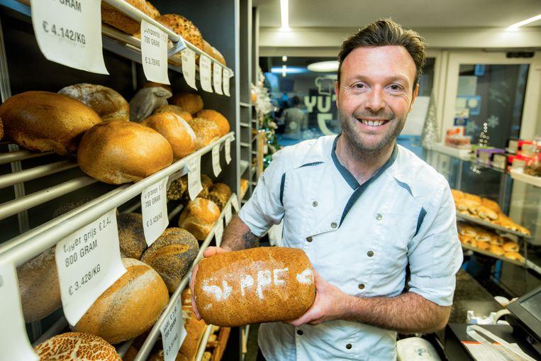 Het Seppe-brood bij bakker Guy in Heppen.