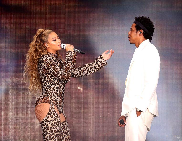 Beyoncé en Jay Z in de Johan Cruijff Arena, dinsdagavond. Beeld Robin Harper/Parkwood/PictureGroup