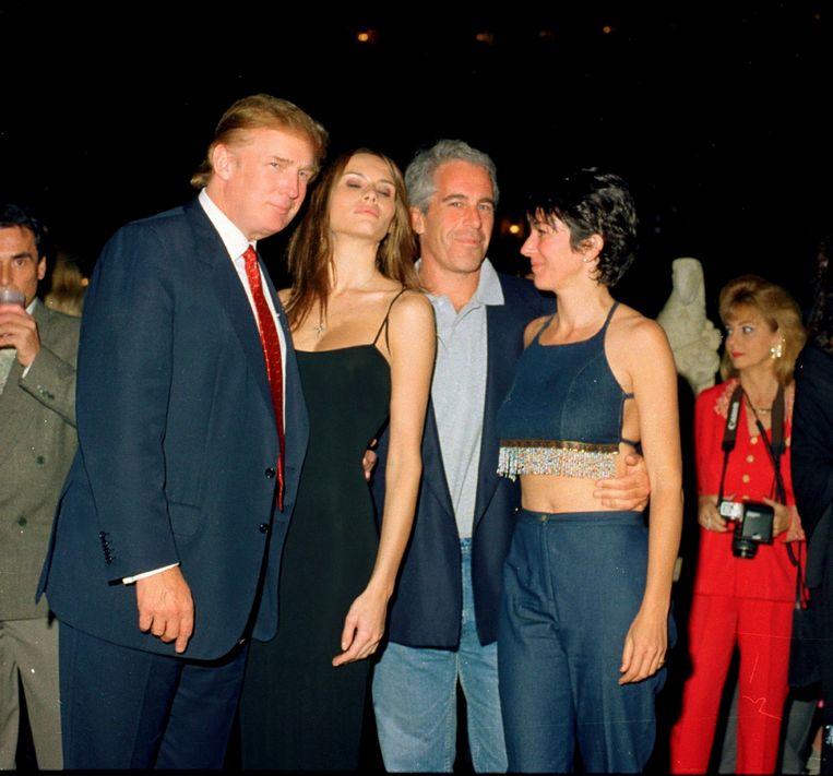 Donald Trump, Melania Knauss, Jeffrey Epstein, en Ghislaine Maxwell