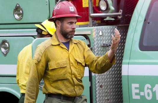Brandweerman David Ruhl.