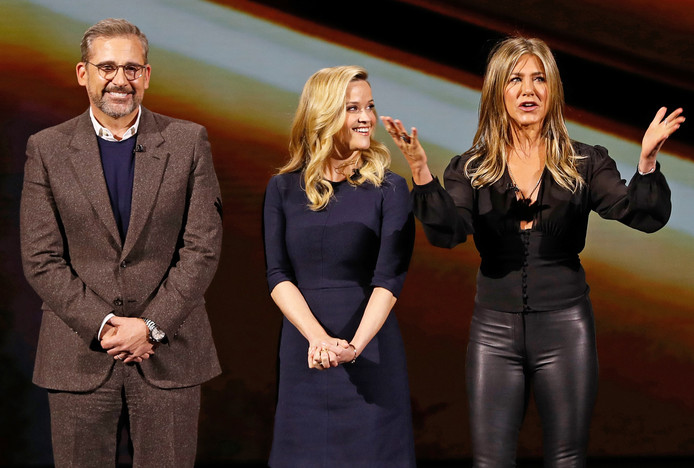 Les acteurs Steve Carell, Reese Witherspoon et Jennifer Aniston.