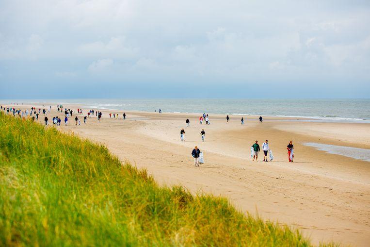 Wetenschap en activisme ineen: de strandopruimdagen van de Stichting Noordzee.  Beeld Lize Kraan