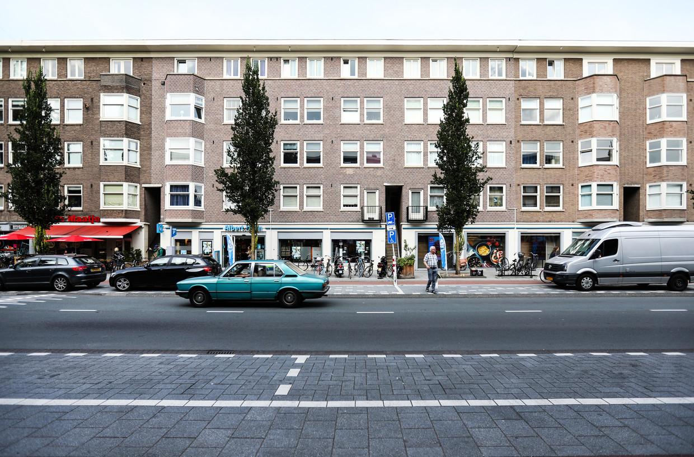 Blackstone heeft voor 250.600.000 euro huizen opgekocht in Amsterdam, onder andere hier in de Rijnstraat. Beeld Eva Plevier