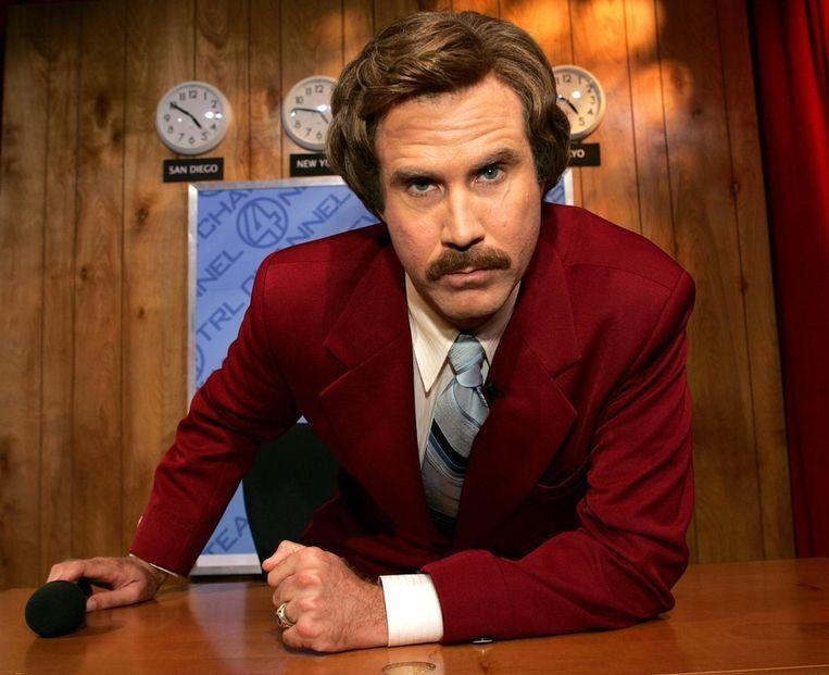 Will Ferrell als nieuwslezer Ron Burgundy. Beeld Getty Images