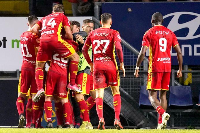 Mael Corboz heeft GA Eagles op 0-1 gezet in Breda, even later zou de Deventer sfeer omslaan.