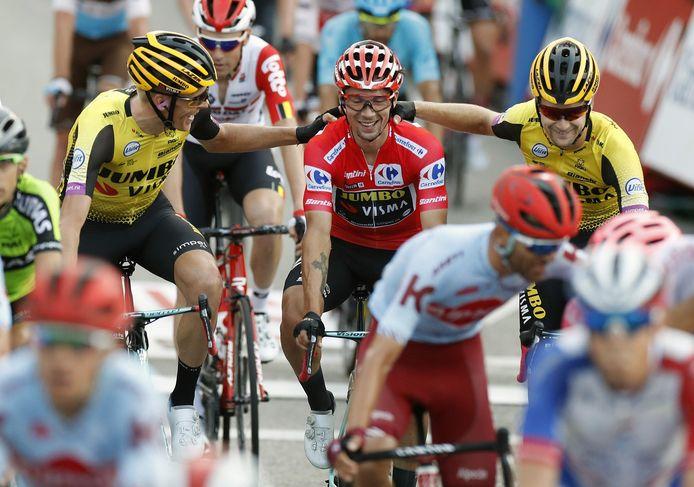 Primoz Roglic won vorig jaar namens Jumbo-Visma de Ronde van Spanje.