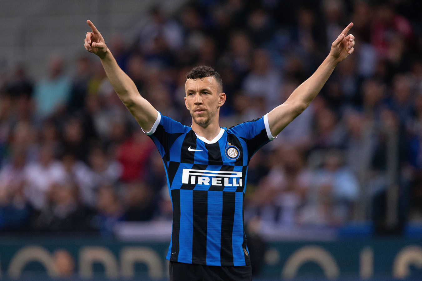 Ivan Perisic in het shirt van Internazionale.