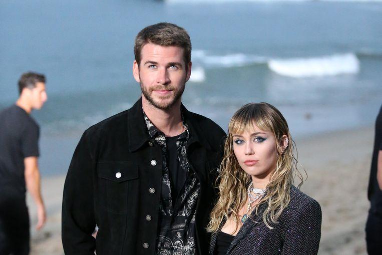 Liam Hemsworth en zijn vrouw, Miley Cyrus.