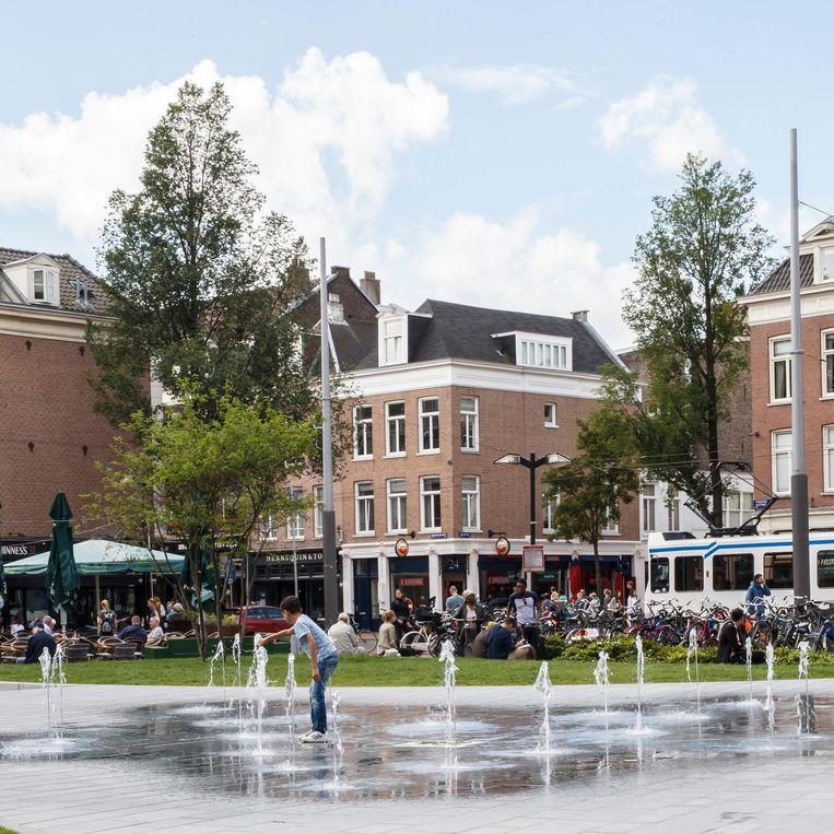 De waterinstallatie op het Marie Heinekenplein Beeld Carly Wollaert