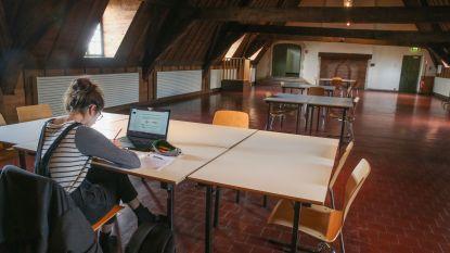 Middeleeuws blokken in Gent op de Monnikenzolder