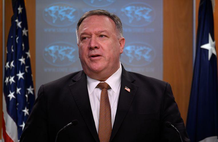 De Amerikaanse minister van Buitenlandse Zaken Mike Pompeo.
