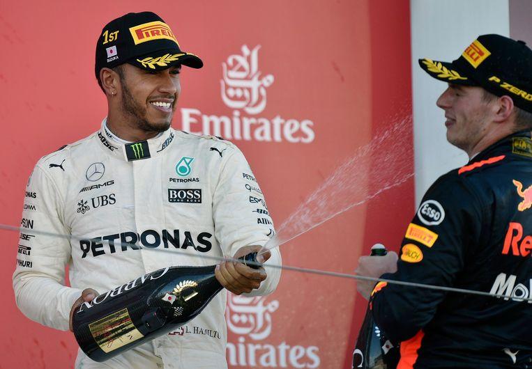 Hamilton won vorig jaar de GP van Japan.
