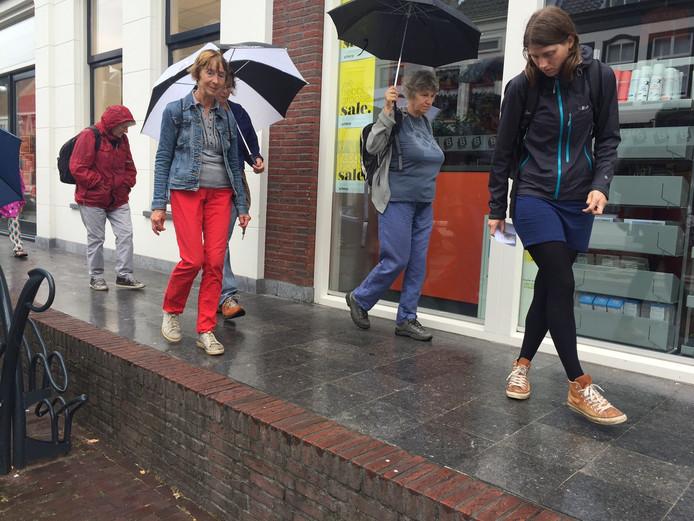 Een groepje van 15 man deed mee aan de excursie door de binnenstad