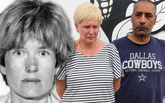 Hilde Van Acker en Jean-Claude Lacote bij hun arrestatie.