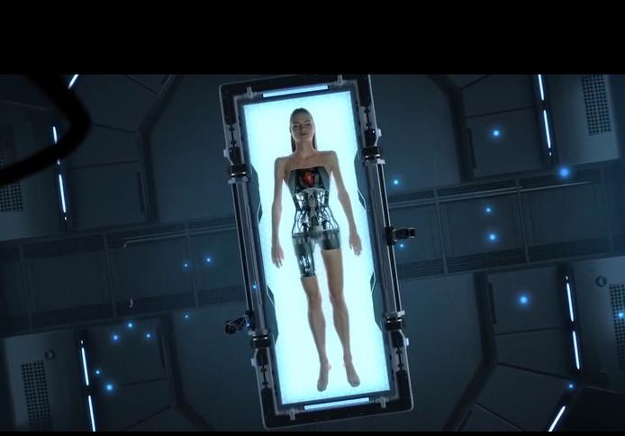 Een screenshot uit de film die Veldkamp Videoprodukties maakte voor high tech-bedrijf Sioux uit Eindhoven.