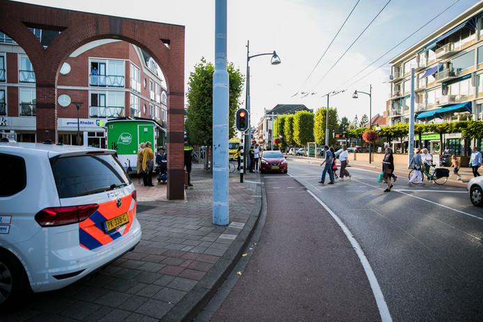 De politie was ter plaatse bij het ongeval.