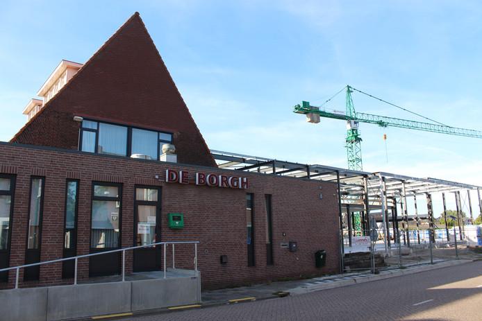 Het nieuwe gemeenschapshuis dat momenteel wordt gebouwd in Budel.