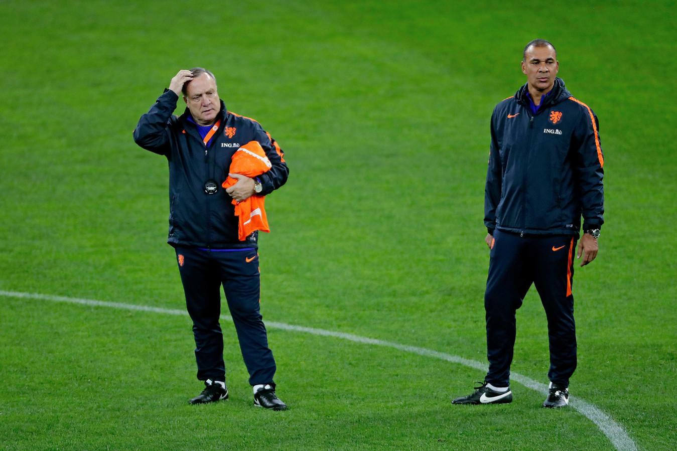 Dick Advocaat en Ruud Gullit bij Oranje.