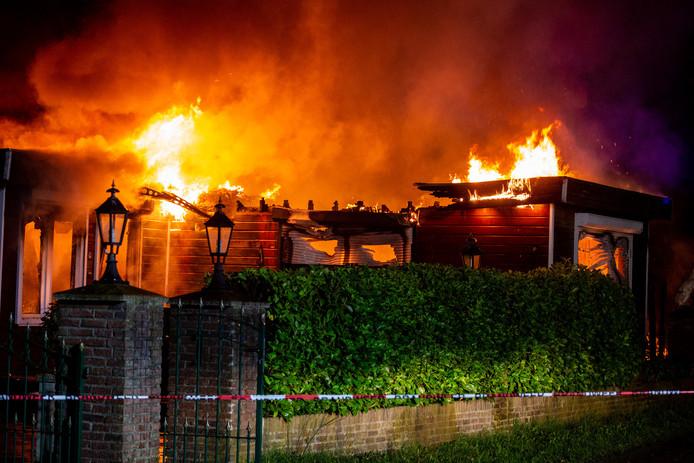Chalet in brand op camping Herelseheide in Heerle