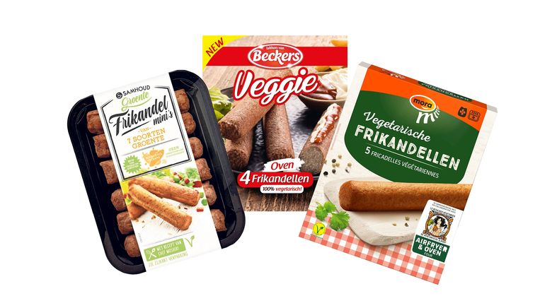 Welke vegafrikandel mag in de voetsporen staan van de koning aller vleessnacks? Beeld