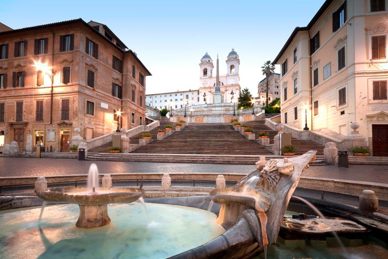 De Spaanse Trappen in Rome