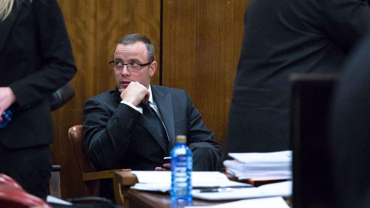 Pistorius tijdens het proces