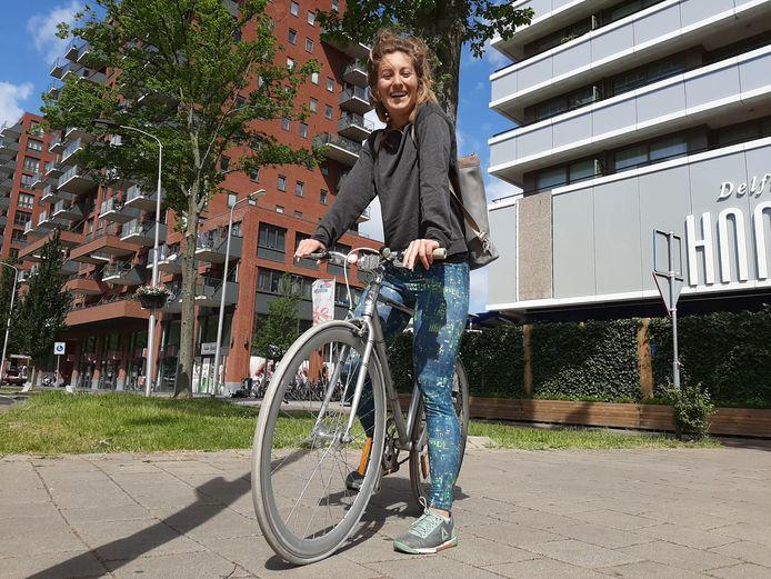 """Sophie ('Soof') Hoefnagel: ,,Eigenlijk wel erg dat ik deze fiets binnen een jaar zo heb afgetrapt."""""""