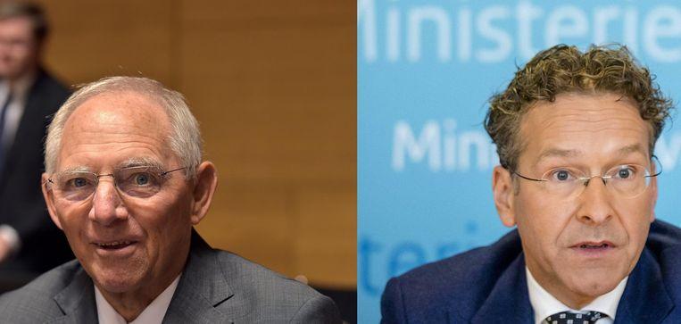 Schäuble en Dijsselbloem Beeld Reuters, anp